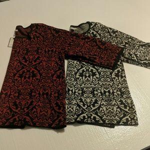 2 Dana Buchman sweaters NWT XXL